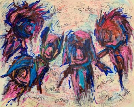 Takashi Hara, _Sunny_, 2019, technique mixte sur toile, 115 x 140cm, ©A2Z Art Gallery & Takashi Hara
