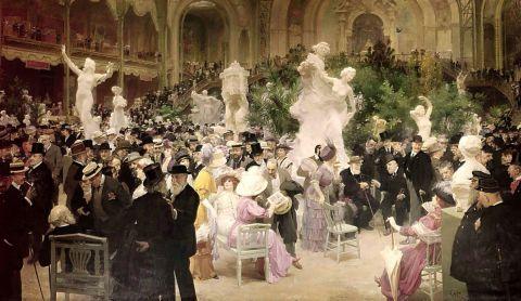 Jules-Alexandre Grün, Un Vendredi au Salon des Artistes Français, 1911, huile sur toile
