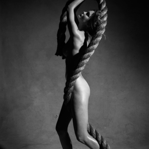Victor Demarchelier - Nude with Rope New York 2009 Study 6