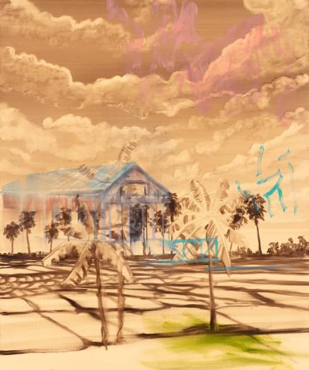 OM_Madagascar souvenirs effac├®s #2_2019_Les paysages effac├®s_Huile sur toile_120 x 100 cm_Photo Hugo Miserey